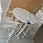 Bar height table & two captain's chairs $300