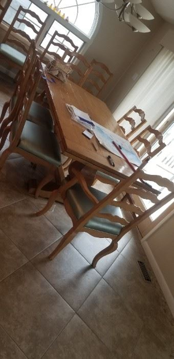 Dining room table seats ten! 8 side chairs & two captain's chairs $475 all
