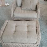 Matching rattan chair with ottoman $150