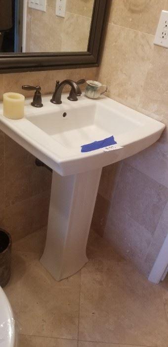 Matching Kohler pedestal sink $95