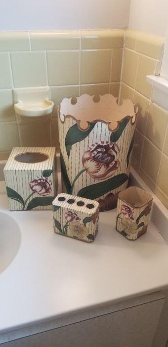 Bath vanity set - metal $40 all