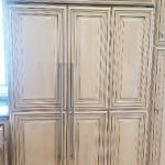Sub-Zero 632 refrigerator with custom cabinetry front